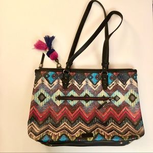 The Sak Hasley East West Large Multi Colored Tote